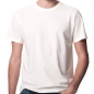 Preview: Earth Positive Basic Herren T-Shirt, BW kbA, weiß, bis 5XL