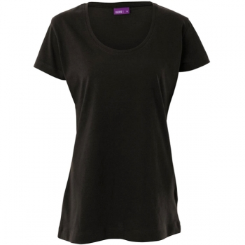 Living Crafts Damen T-Shirt tailliert, schwarz
