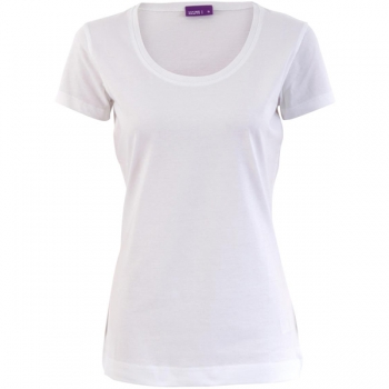 Living Crafts Damen T-Shirt tailliert, weiß