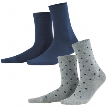 Living Crafts Damen Socken Bettina night, 2er-Pack
