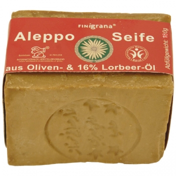 Finigrana Alepposeife mit 16 % Lorbeeröl, 180 g