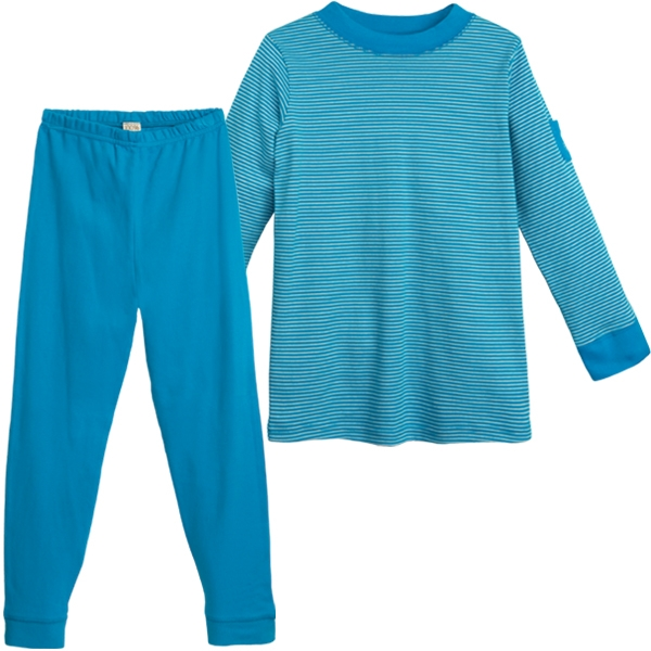 Living Crafts Kinder Pyjama petrol, 134/140