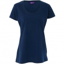 Living Crafts Damen T-Shirt tailliert, dunkelmarine